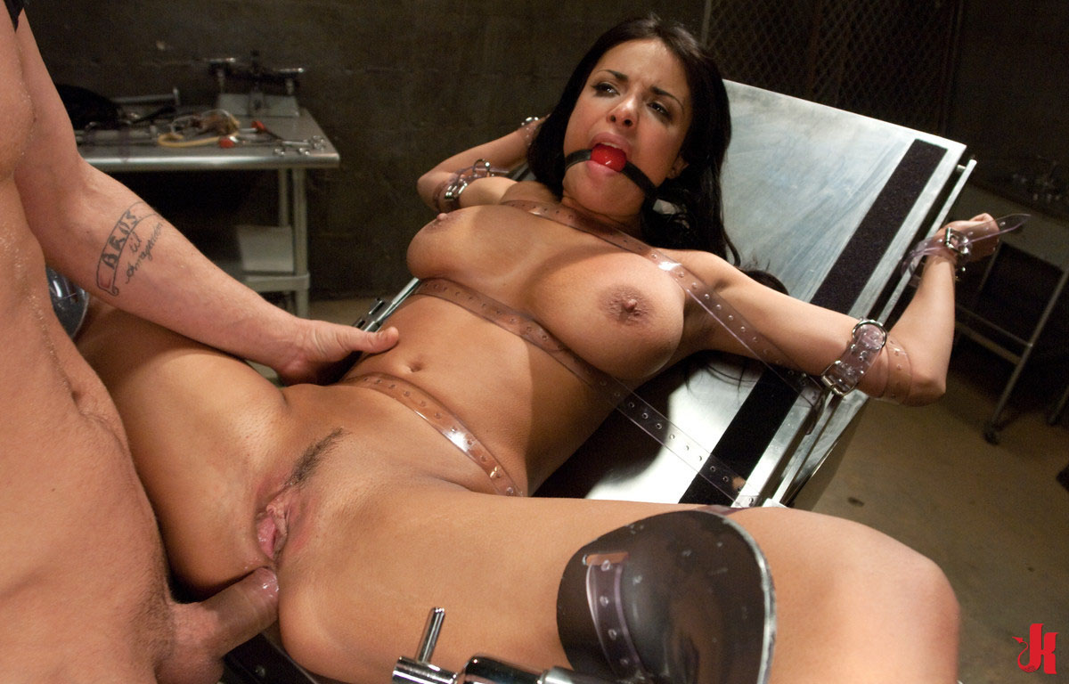 Sex and Submission - Whore with big tits bound in ropes and fucked up her a