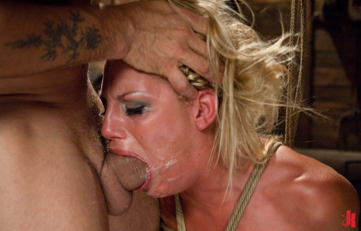 Face Fuck With Ring Gag Open Mouth Hands Tied Cum Face And Pissing