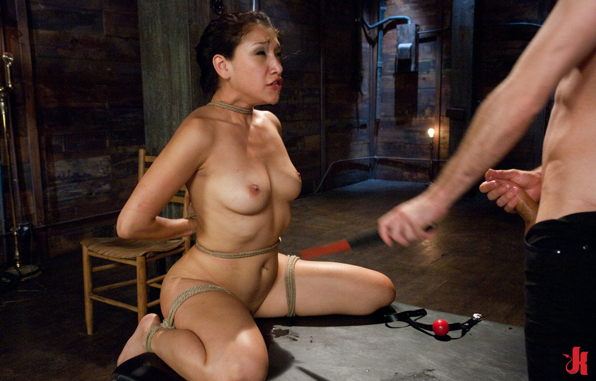 Female agent sexy asian model licks and tastes her first pus 5