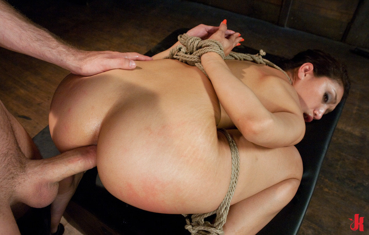 girl fucking tied up boy in the ass