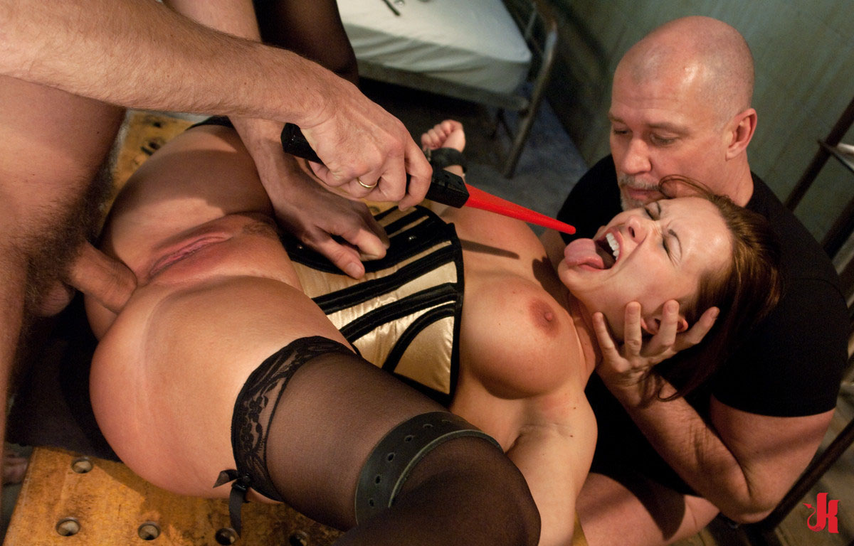 Forced double penetration sex